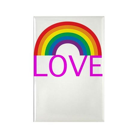 loveoneanothersiggwh Rectangle Magnet
