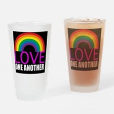 loveoneanothersquare Drinking Glass