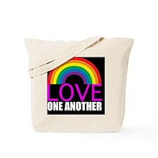 loveoneanothersquare Tote Bag