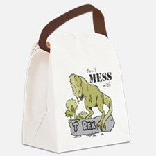 Dont Mess With T Rex Canvas Lunch Bag