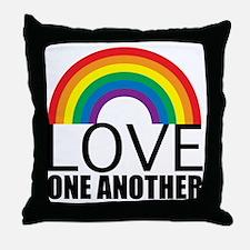 loveoneanotherred Throw Pillow
