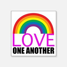 """loveoneanotherpink Square Sticker 3"""" x 3"""""""