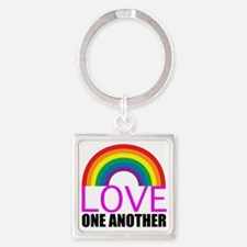 loveoneanotherpink Square Keychain
