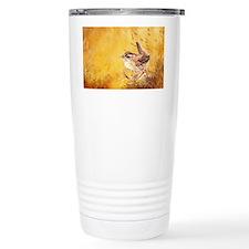 Watercolor Wren Bird Travel Mug