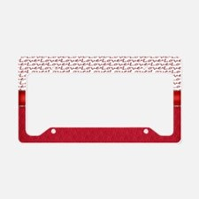 Red Hot Love License Plate Holder