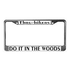 Thru-hiker license plate frame