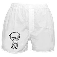 Djembe Drum woodcut Boxer Shorts