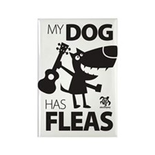 My Dog Has Fleas 13 Rectangle Magnet