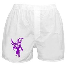 Survivor Pheonix in Purple Boxer Shorts