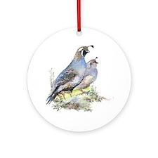 calif quai pairl  Round Ornament