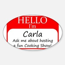 Cookign Show Name Tag - Carla Sticker (Oval)