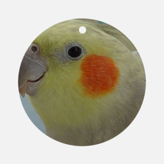 Honey the cockatiel Round Ornament