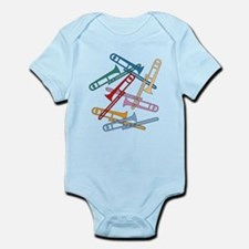 Colorful Trombones Onesie