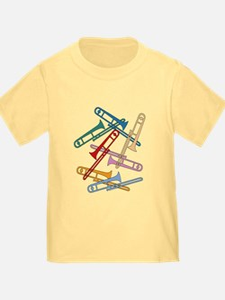 Colorful Trombones T
