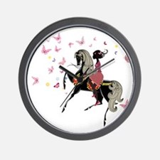 Girl on the horse Wall Clock