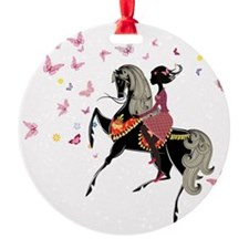 Girl on the horse Ornament