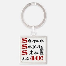 Funny 40th Birthday Gift For Men Square Keychain