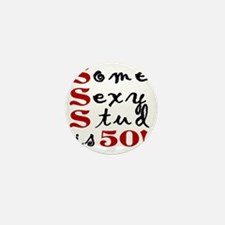 Funny 50th Birthday Gift For Men Mini Button