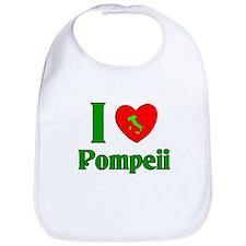 I Love Pompeii Italy Bib