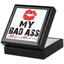 KISS MY BAD ASS - WHITE Keepsake Box