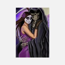 Grim Reaper Lovers Embrace Rectangle Magnet