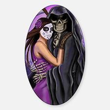 Grim Reaper Lovers Embrace Sticker (Oval)