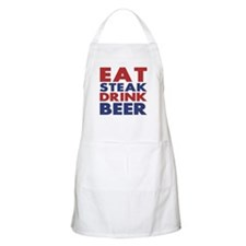 Eat Steak Drink Beer BBQ Apron