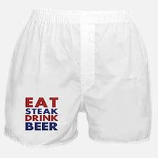 Eat Steak Drink Beer Boxer Shorts