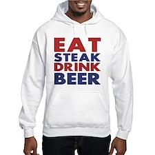 Eat Steak Drink Beer Hoodie