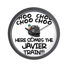 Javier Train Wall Clock