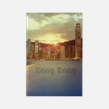 HongKong_5.5x8.5_Journal_Skyline_ Rectangle Magnet
