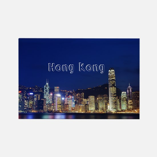HongKong_17.44x11.56_LargeServing Rectangle Magnet