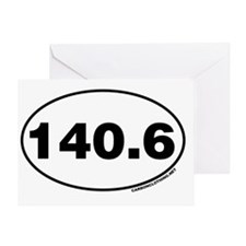 140.6 Miles Greeting Card