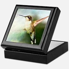 Hummingbird in Flight Keepsake Box