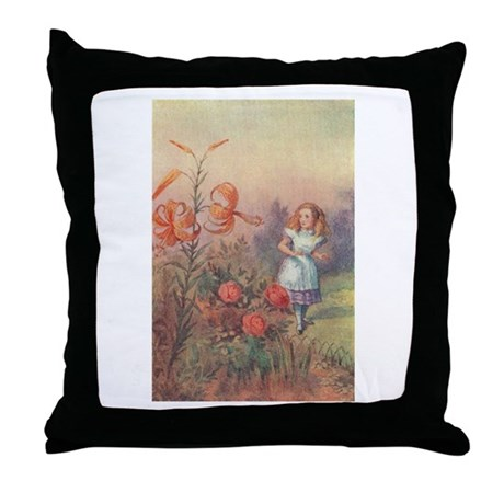 Talking Flowers - Throw Pillow
