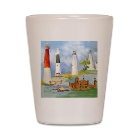 New Jersey Light houses Shot Glass