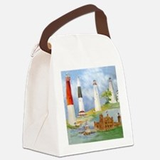 New Jersey Light houses Canvas Lunch Bag