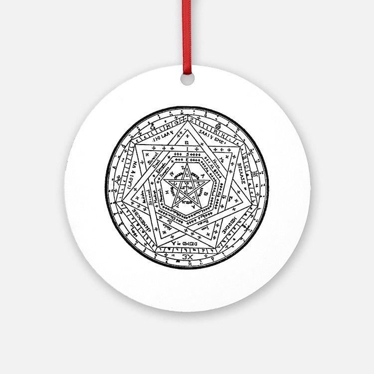 Sigillum Dei Aemeth Round Ornament