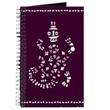 African Tribal Turtle ---purple and White Journal