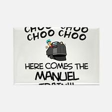 Manuel Train Rectangle Magnet