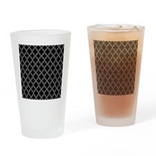 Black and White Moroccan Quatrefoil Drinking Glass