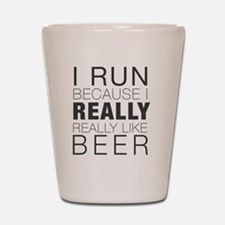 Run for Beer. Shot Glass