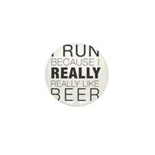 Run for Beer. Mini Button