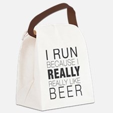 Run for Beer. Canvas Lunch Bag