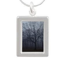 Nature01 Silver Portrait Necklace