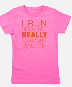 Run For Bacon Girl's Tee
