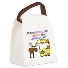 moose at a lemonade stand Canvas Lunch Bag