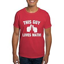This Guy Loves Math T-Shirt