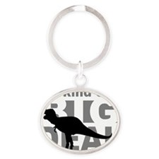 T Rex Kind of a Big Deal Oval Keychain
