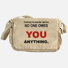 CONTRARY TO POPULAR OPINION Messenger Bag